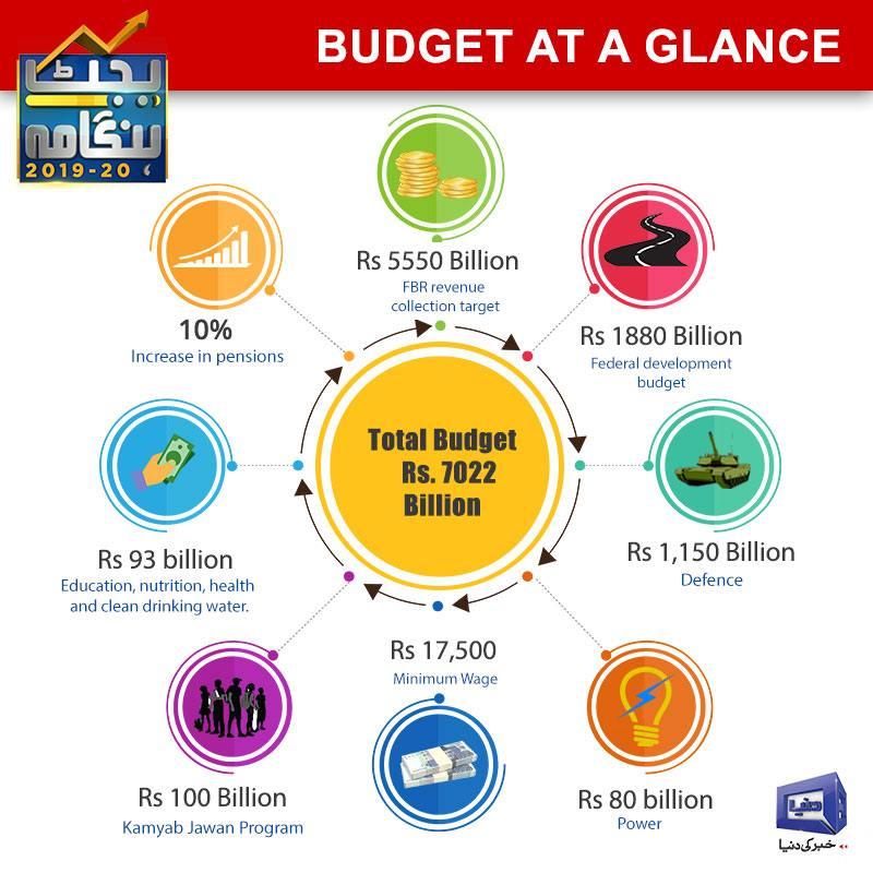 Hammad Azhar unveils Rs7 02tr budget for FY2019-20 - Pakistan