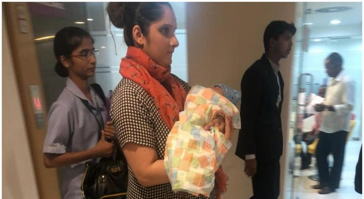 Sania Mirza goes home with her newborn with an adorable message