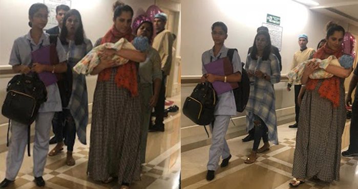 Sania Mirza shares first glimpse of Baby Mirza-Malik