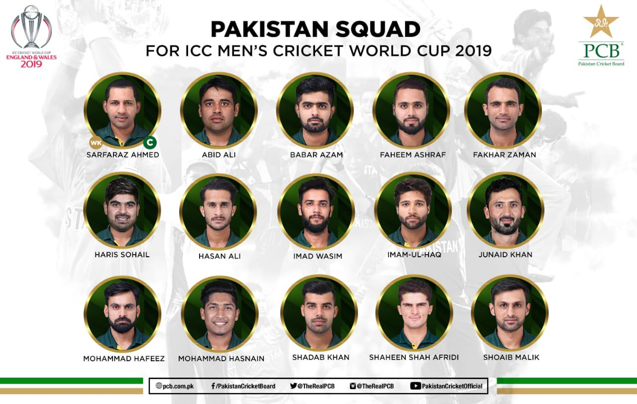 Pakistan announce the 15-man squad; no place for Mohammad Amir