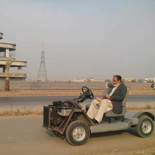 Image result for Mirza Abdul Majeed Electric Welder created a handmade car from scratch