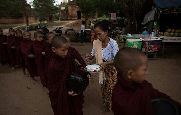 Image result for Myanmar Child monks become royalty for a day