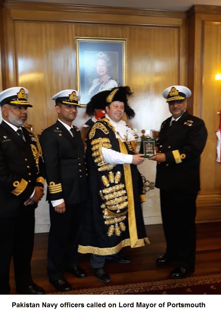Pakistan Navy ship Aslat visits Portsmouth, UK - Pakistan