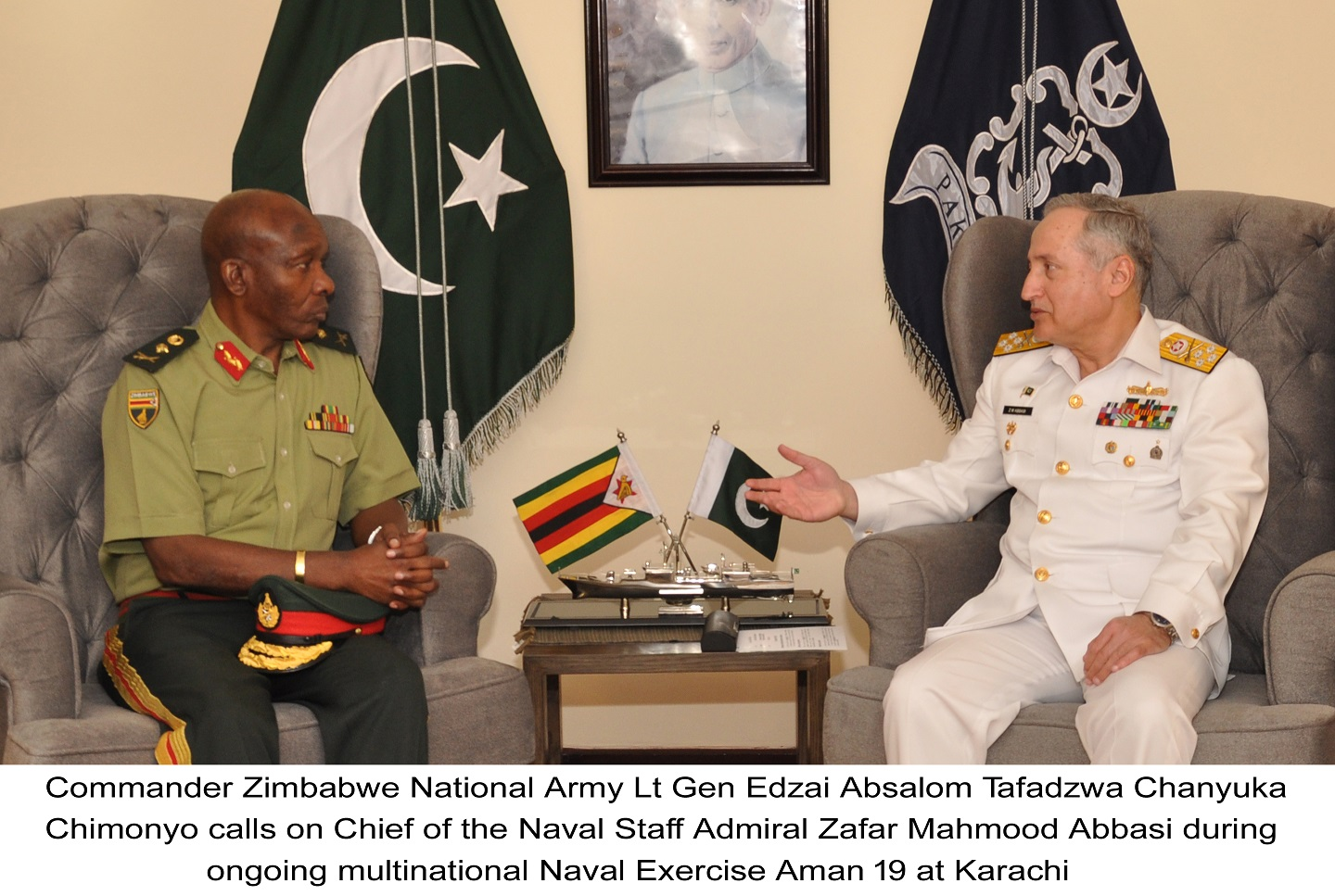 AMAN 2019: Chief Of Naval Staff meets various foreign