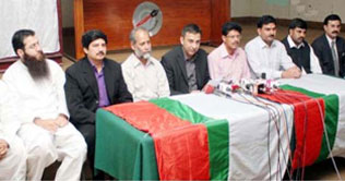 MQM protests its workers killing