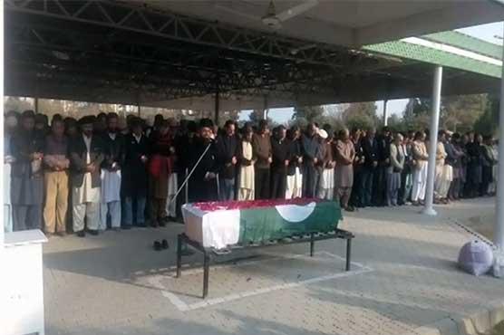 Captain Saleh Janjua's funeral offered in Rawalpindi