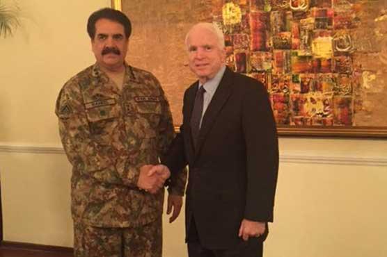 John McCain reassures Pakistan of support in terror fight
