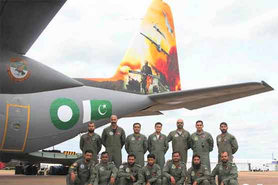 PAF wins 'best aircraft' award in Royal International Air Show