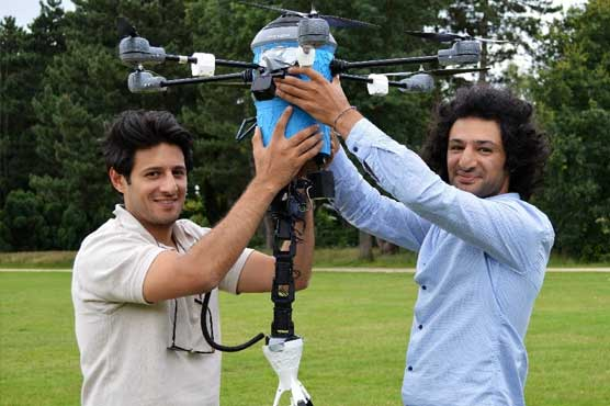 Afghan brothers launch new mine-hunting drone