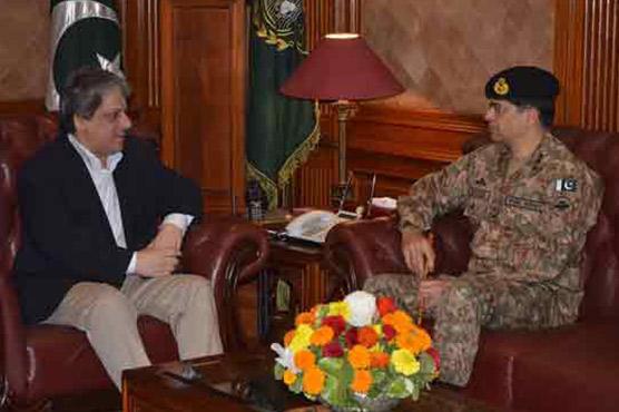 Lt Gen Naveed Mukhtar calls on Dr Ishratul Ibad