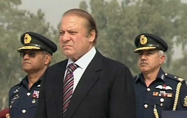 PM lauds PAF's role in Zarb-e-Azb, says 'back of terrorists broken'