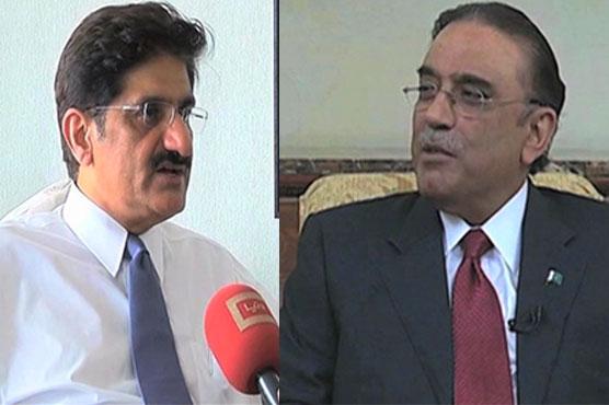 CM Sindh meets Asif Ali Zardari in Dubai