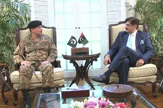 CM Sindh, Corps Commander Karachi agree to summon apex committee session in Nov