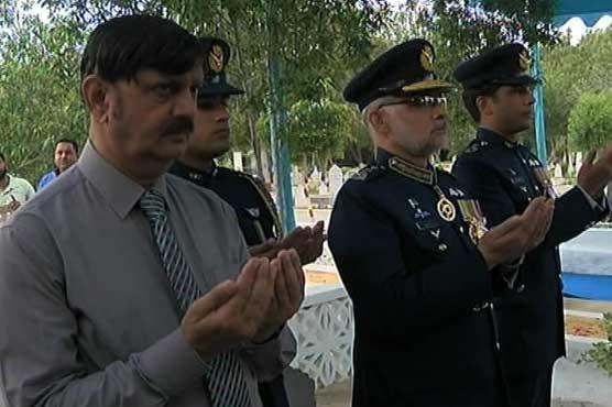 PAF Day: Air Vice Marshal visits Rashid Minhas resting place
