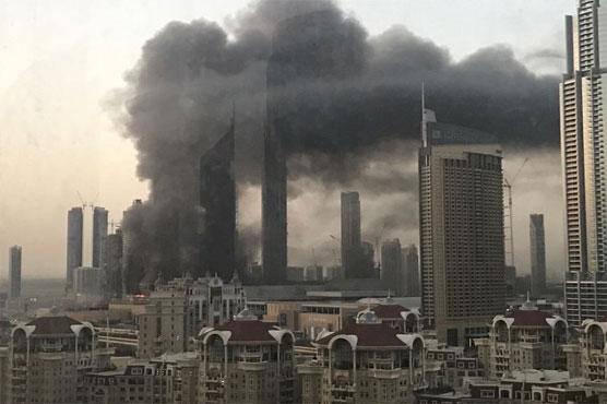 Fire erupts near Dubai's biggest mall