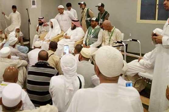 Imam-e-Kaaba visits Pakistani pilgrims in Makkah
