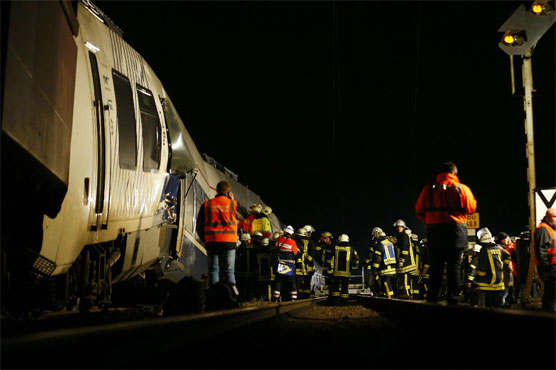 Nearly 50 injured in Germany train crash: fire dept