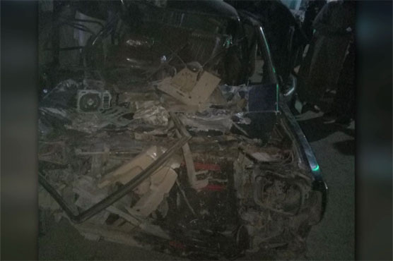 Khanewal: Four of a family killed in car, trailer collision