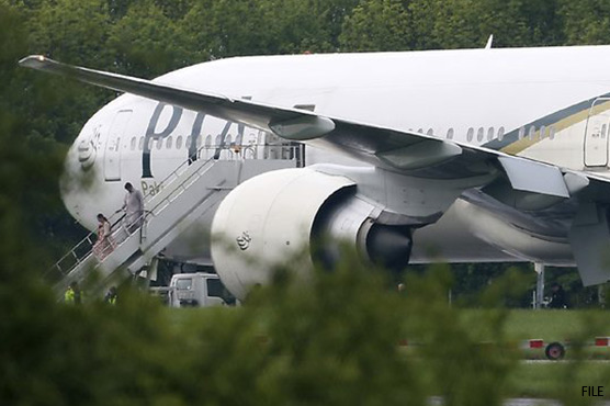 British fighter jets escort London-bound PIA flight over bomb-scare