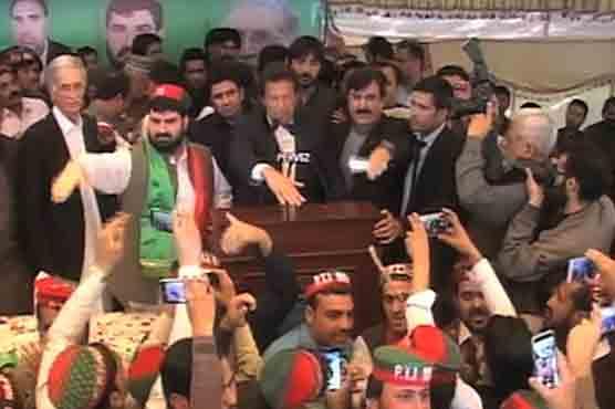 Peshawar: PTI event faces disturbance