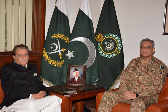 Army Chief meets AJK PM to discuss security situation