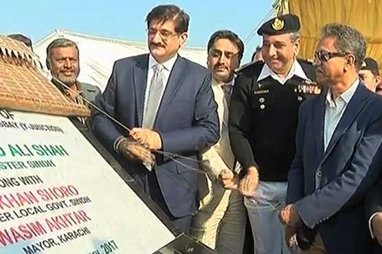 Karachi: Sindh CM, Mayor inaugurate bridge at Hawksbay Road