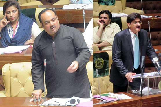 Ruckus in Sindh Assembly as PPP, MQM lawmakers exchange harsh words