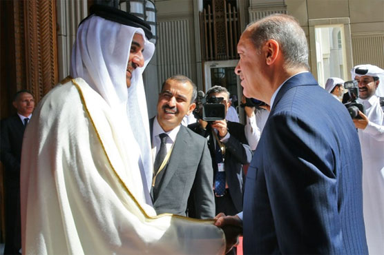 Erdogan pledges military support for Qatar on Doha visit