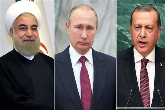 Leaders of Russia, Iran, Turkey meet to relaunch Syria peace process