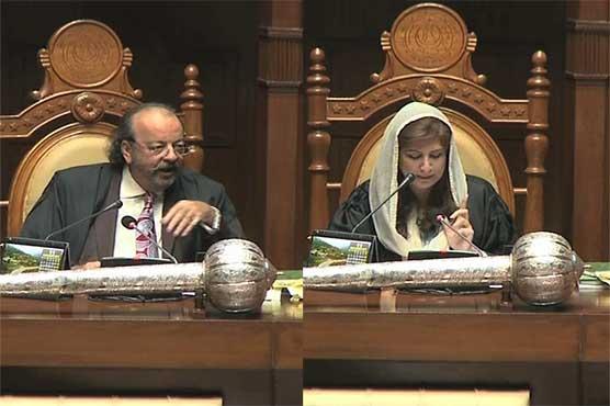 Speaker Agha Siraj cracks jokes during Sindh Assembly session