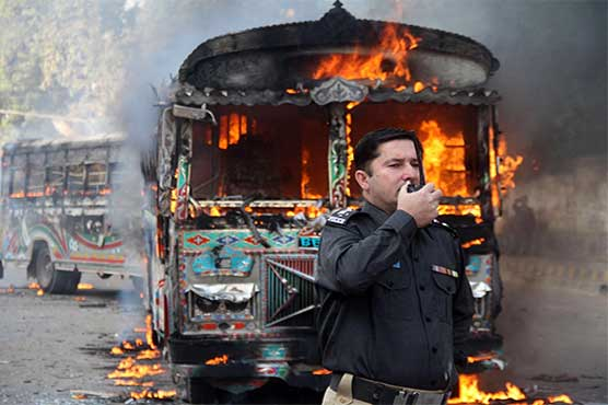 Karachi: Enraged locals burn two buses as minor killed in road accident