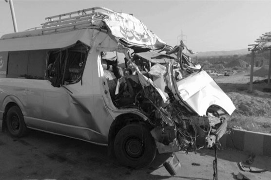 Eight of a family killed in van-truck collision in Jamshoro