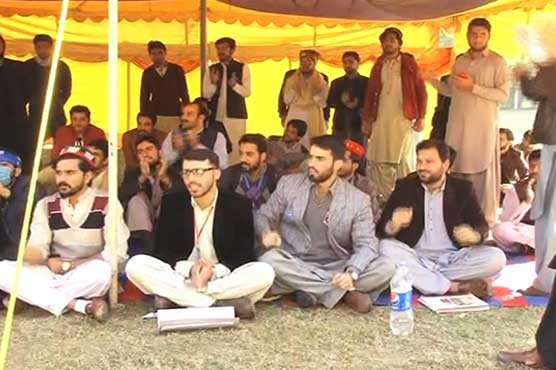 Peshawar University students' protest continues on third day