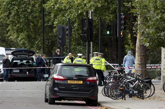Eleven hurt after car crashes near London museum