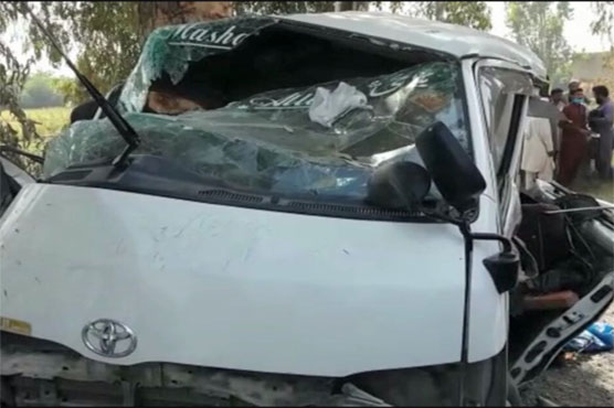 Attock: 9 killed as passenger van crashes into tree