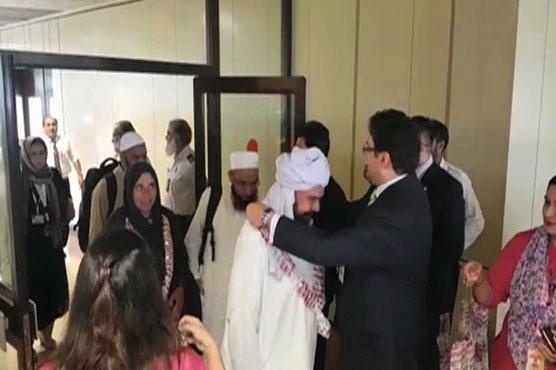 First PIA flight carrying 384 Hajj pilgrims arrive in Karachi
