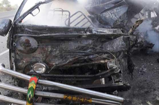 Chakri: 13 dead in van-trailer collision