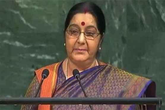 Sikhs, Kashmiris protest as Swaraj mongered hate against Pakistan in UNGA