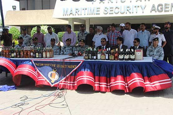 Pakistan Maritime Security Agency seizes large hoard of liquor