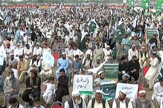Thousands attend Pakistan Zindabad rally in Peshawar