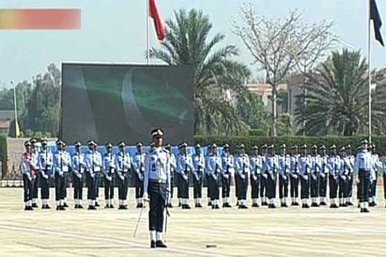 PAF's graduation parade held at Asghar Khan Academy Risalpur