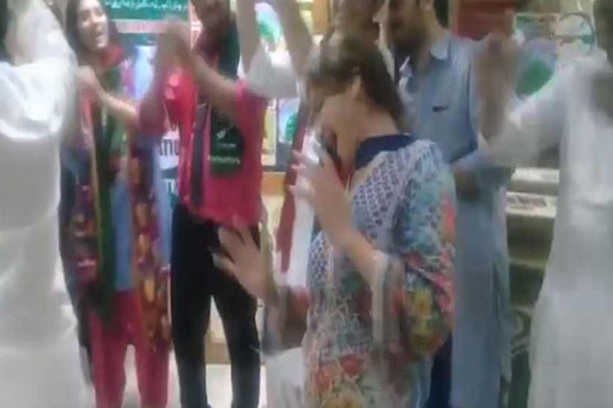 PIA employees union staff dances on Indian songs on election victory
