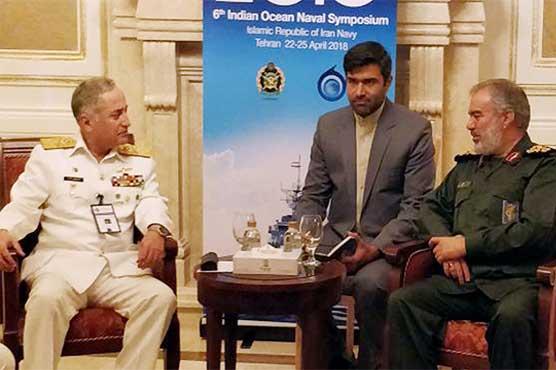 Naval Chief Admiral Abbasi meets Iranian military leadership