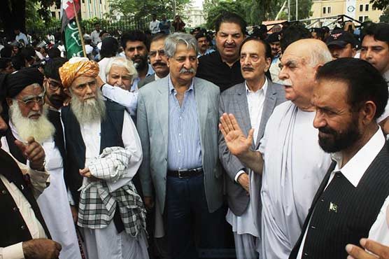Rigging allegations: Opposition parties stage protest outside ECP office
