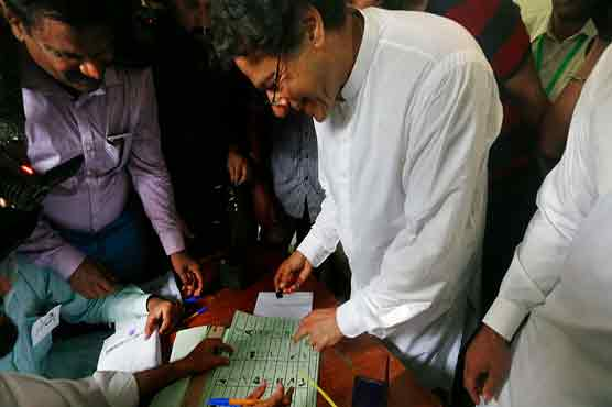 Imran stamped ballot paper publicly due to heavy crowd: report
