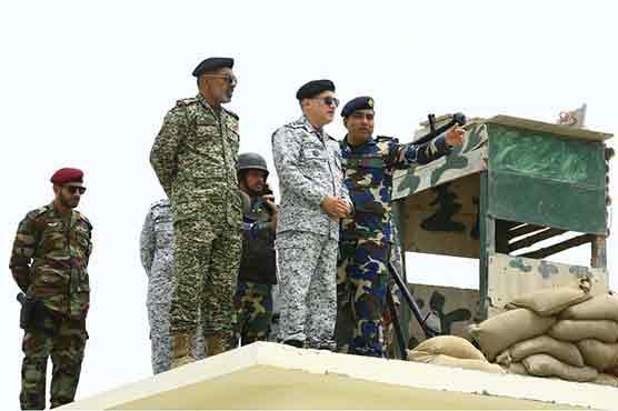 CNS visits Naval installations at Shumal Bandar