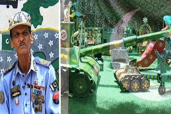 Celebrating Independence day with home-made artillery, missiles and tanks models