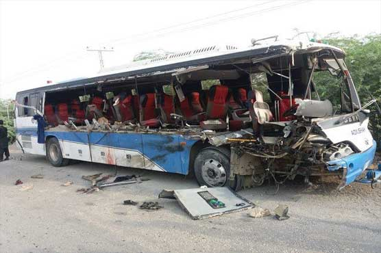 Four FC men martyred in truck-bus collision