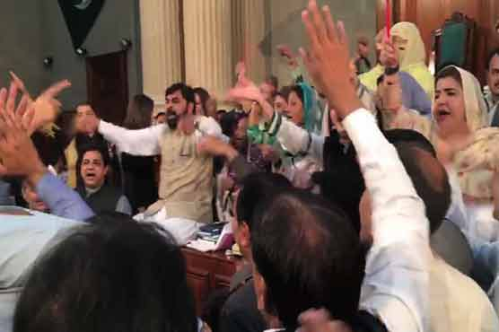 Opposition protests in Punjab Assembly as Buzdar wins CM slot