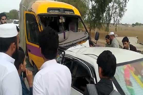 Karak: Five killed, 10 injured as coaster rams into car
